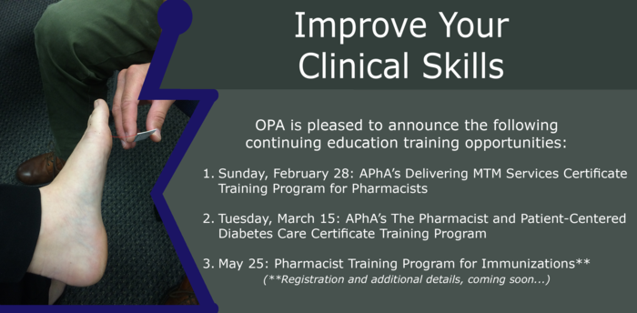OPA Upcoming Training Programs 2016