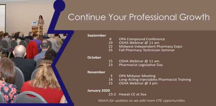 OPA Continuing Pharmacy Education