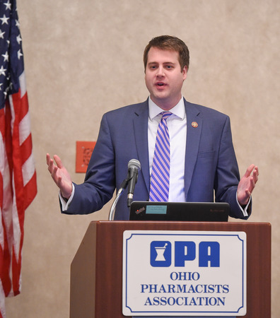 Representative Derek Merrin speaks at OPA Legislative Day
