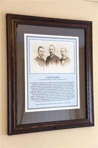 An early 1900's print of the three Lloyd brothers