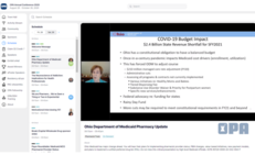Virtual OPA Annual Conference Medicaid CPE platform view